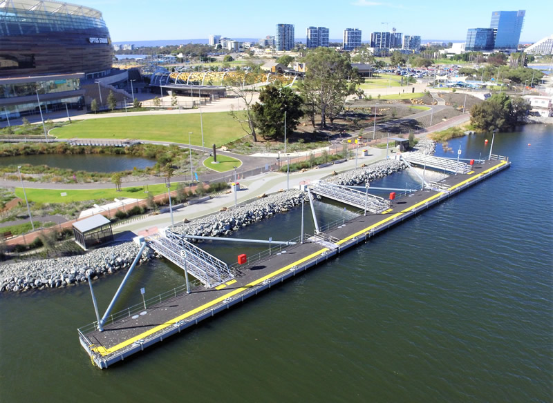 Burswood Jetty completion - aerial view