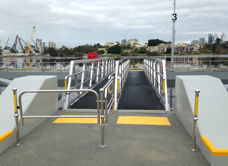 Burswood Jetty completion - boarding area