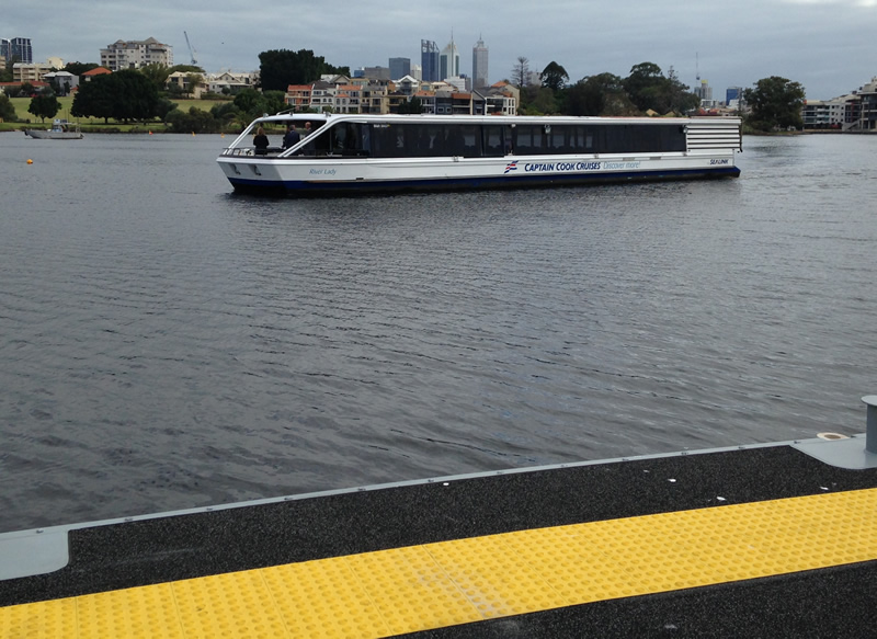 Burswood Jetty completion - ferry approaching