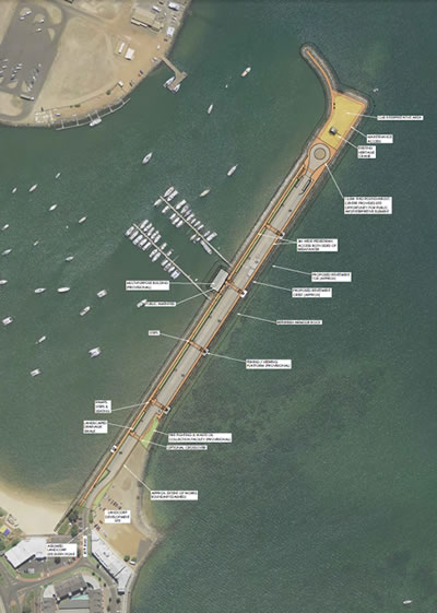 Figure 1: Casuarina Boat Harbour Jetty Road Causeway upgrade overview.