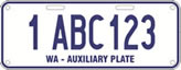 Auxiliary plate sample: 1 ABC 123