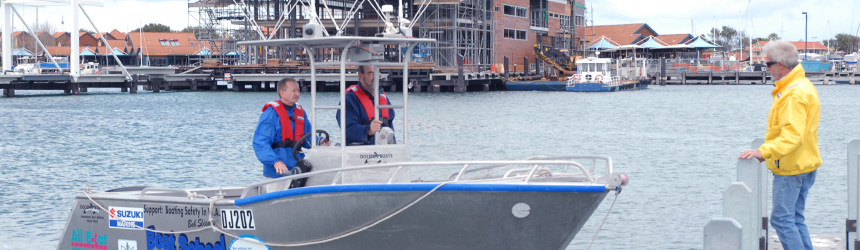 Image of boaters undertaking RST testing