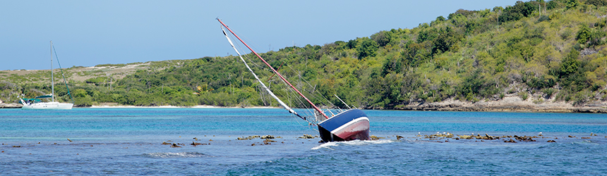 Image of grounded boat