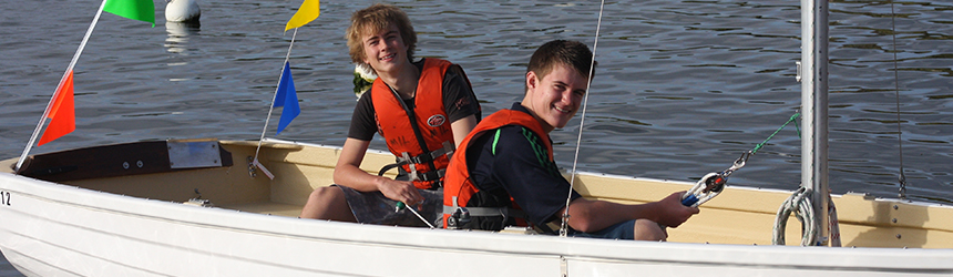 Students on sailboat