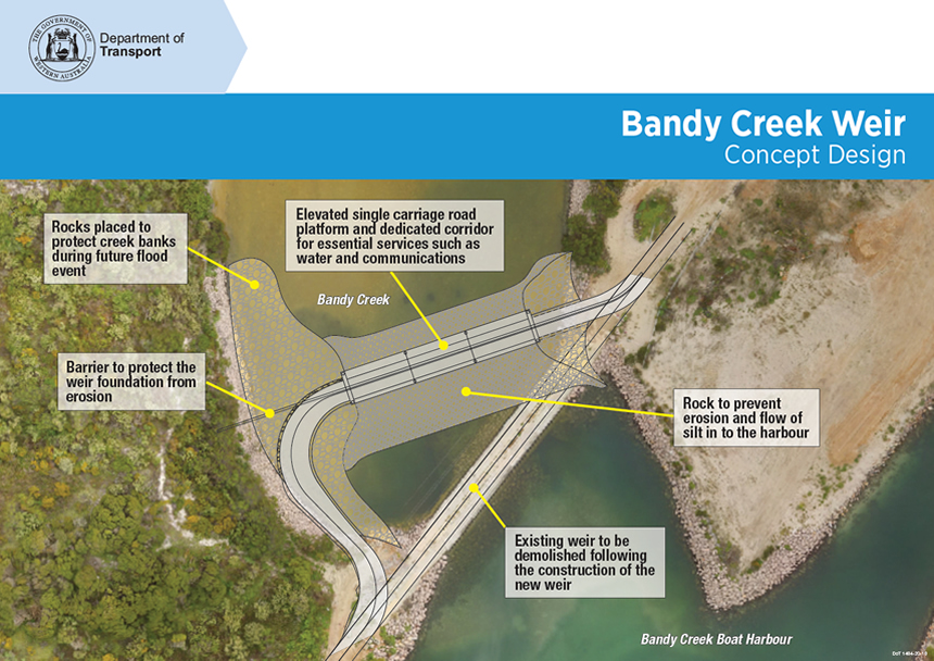 Bandy Creek concept design for new weir