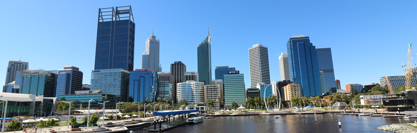 Elizabeth Quay and the Perth skyline