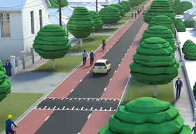 Concept image of cycle boulevard