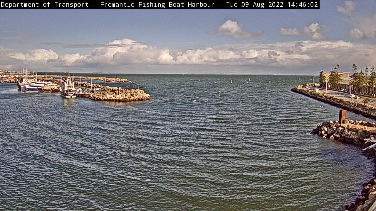 Live camera Fremantle Fishing Boat Harbour Western Australia
