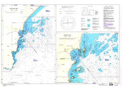 Download high resolution chart for Peaceful Bay