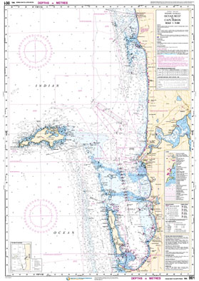 Low resolution chart for Ocean Reef to Cape Peron side A