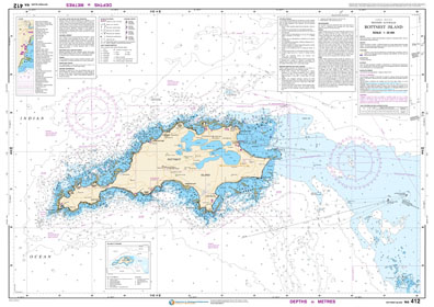 Low resolution chart for Rottnest Island side A
