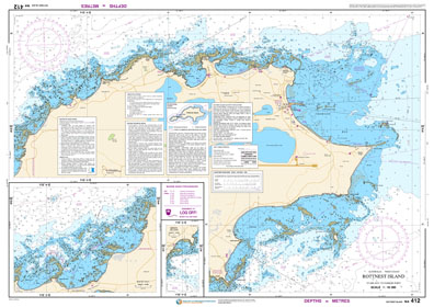 Low resolution chart for Rottnest Island side B