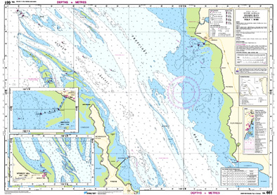 Low resolution chart for Shark Bay side A