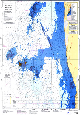 Download high resolution chart for Beagle Islands