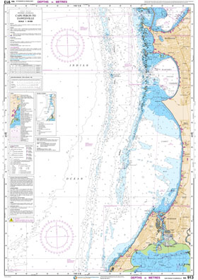Low resolution chart for Cape Peron to Dawesville side A