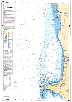 Low resolution chart for Geraldton side A