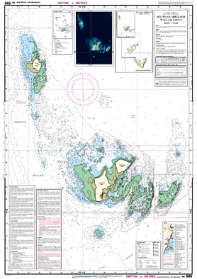 Low resolution chart for Houtman Abrolhos - Wallabi Group side A