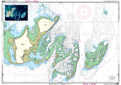 Low resolution chart for Houtman Abrolhos - Wallabi Group side B