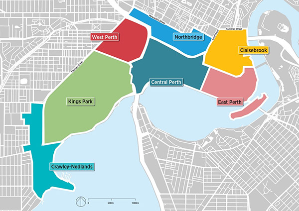 Perth Greater CBD Transport Plan - Map